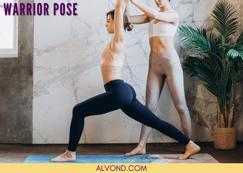 Yoga poses for back pain - Warrior pose