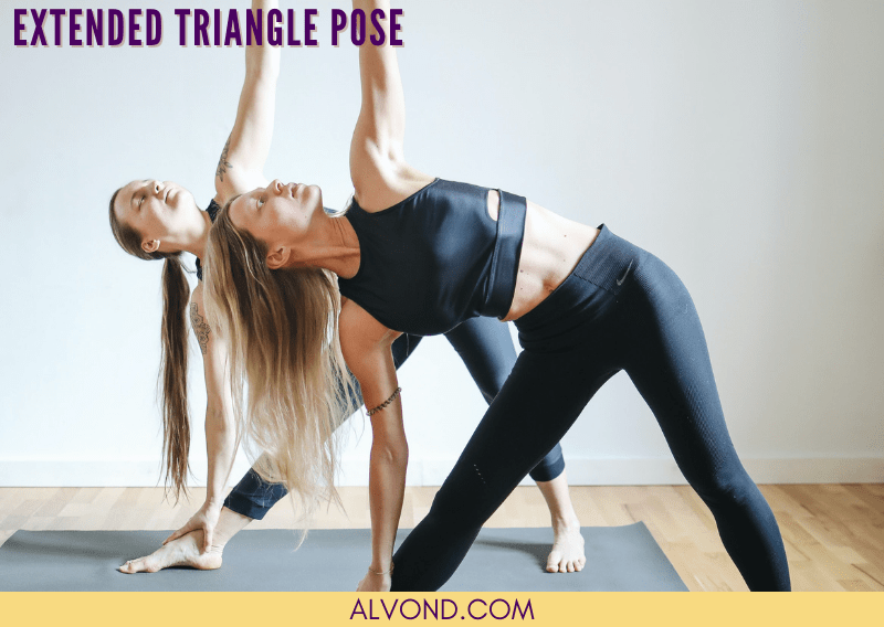 Yoga poses for back pain - Extended Triangle pose